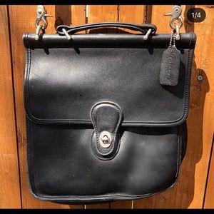 authentic vintage coach genuine leather crossbody